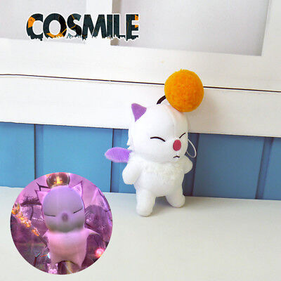Final Fantasy Moogle Kostüm (Final Fantasy XIV FF14 Moogle Mogli Cosplay Plush Keychain Doll Toy Pendant Game)