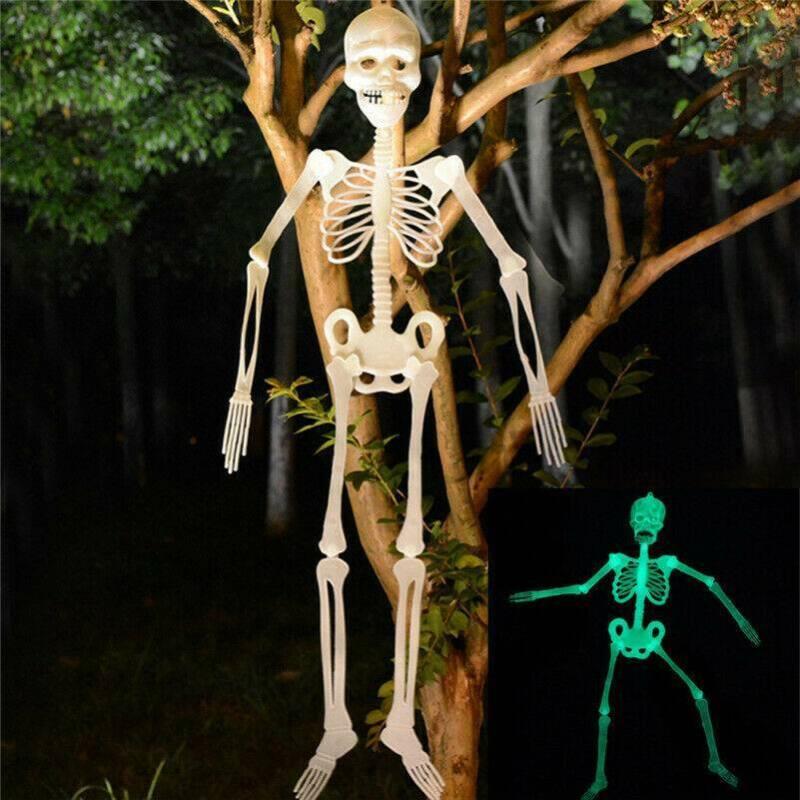 Halloween Hanging Skeleton Luminous Scary Props Outdoor Part