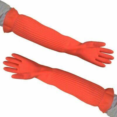 Latex Long Sleeve Waterproof Household Kitchen Cleaning Work Gloves Unisex Home