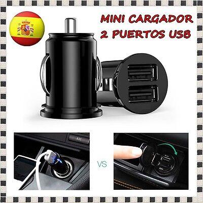 CARGADOR DE COCHE 2 PUERTOS USB DOBLE CAR CHARGER MOVIL MECHERO SAMSUNG IPHONE 6 segunda mano  Beniopa