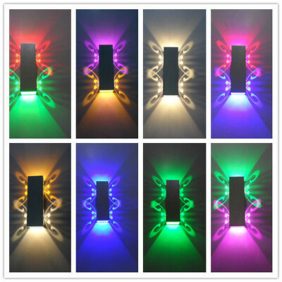 LED Wall Light Butterfly Up Down Sconce Lighting Hall Porch Lamp Fixture Decor](Light Up Butterfly)