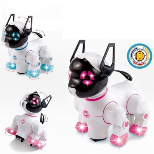 elektronische huisdieren robot honden met muziek verlichting