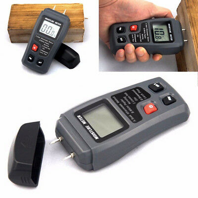 0-99.9 Digital Lcd Wood Moisture Meter Humidity Tester Timber Damp Detector Chf