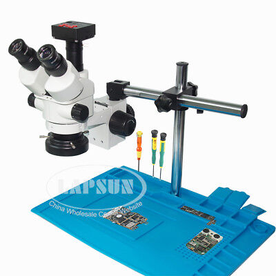 Phone Repair Simul-focal Trinocular Stereo Microscope 1080p Hdmi Digital Camera