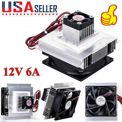 New 12v 6a Thermoelectric Peltier Refrigeration Cooler Fan Cooling System Kit Us