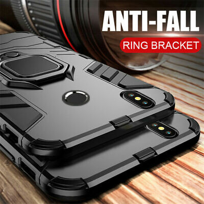 Magnetic Ring Holder Hybrid Bumper Armor Case Cover For Xiaomi Mi A3 A2 Lite A1