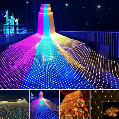 LED String Fairy Light Net Mesh Curtain Xmas Wedding Party Decor Outdoor Indoor](Indoor Christmas Decorations)