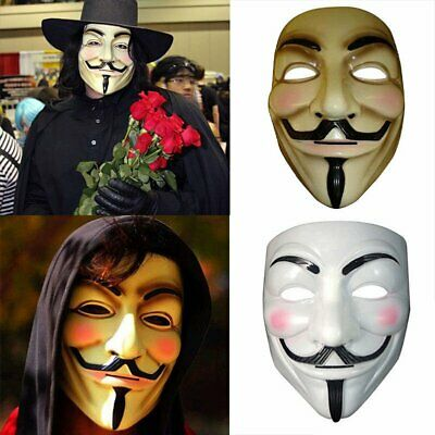 Cat Mask For Halloween (Anonymous Guy V for Vendetta Mask Fawkes Halloween Fancy Party Cosplay)