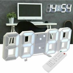 New Remote Control Large LED Digital Wall Clock w/ Countdown Timer Temperature