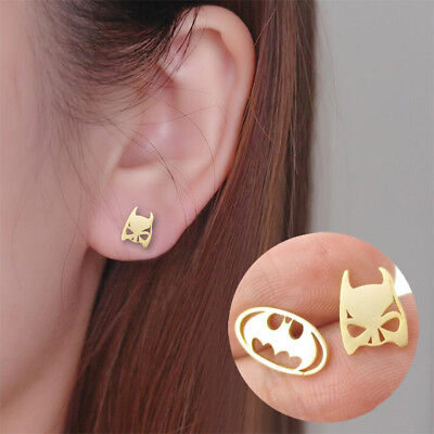Women's Fashion Jewelry Batman Earrings Super Hero Character 49-9 - Super Hero Females