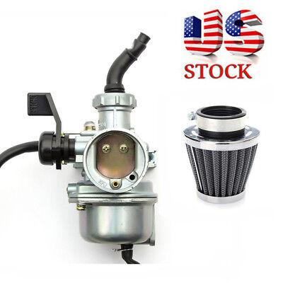 22mm Carburetor & Air Filter For Pit Dirt Bike 110cc 125cc Kawasaki KLX110 pz22
