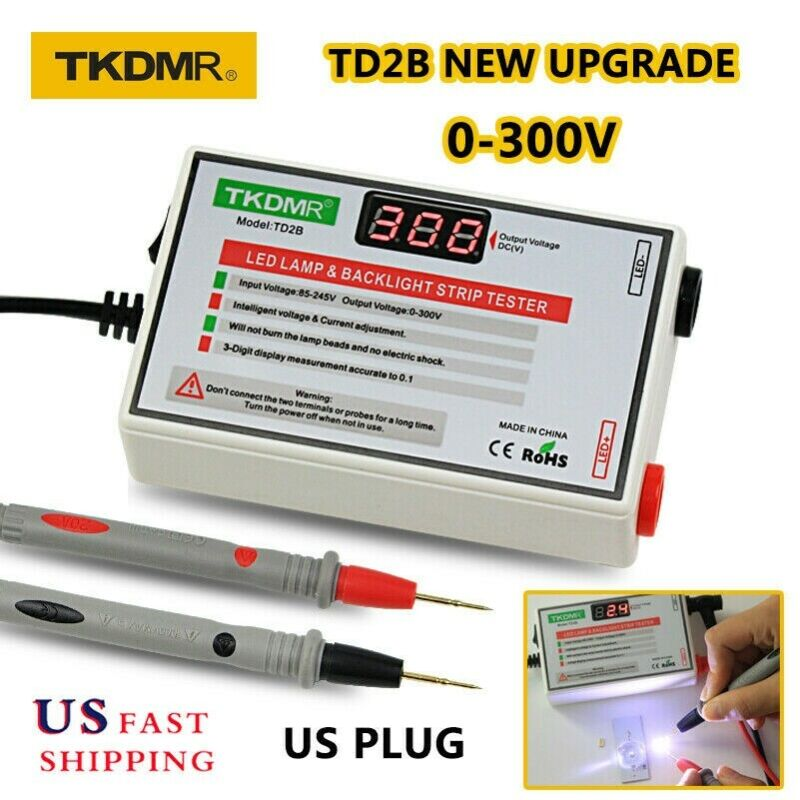 TD2B 0-300V Output LED LCD TV Backlight Tester Meter Tool Lamp Bead Healthy