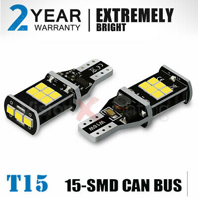 Reverse Light Bulb 15 SMD LED W16W T15 955 921 For Vauxhall Opel Mokka 12-On