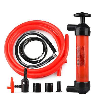 Manual Car Siphon Pump Fuel Gas Transfer Oil Liquid Hand Air Pumps Kit Portable