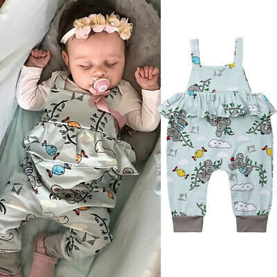 US Sloth Toddler Baby Girl Ruffle Romper Bodysuit Jumpsuit Outfit Sunsuit - Sloth Outfit