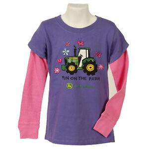 Girls John Deere Shirt Fun On The Farm Long Sleeve