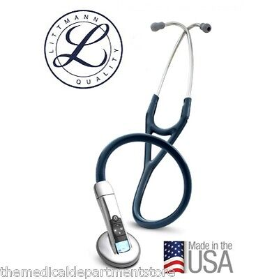 3m Littmann 3200 Electronic 27 Stethoscope W Ambient Noise Reduction Blue