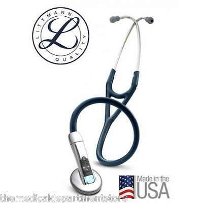 3m Littmann 3200 Electronic 27 Stethoscope W Ambient Noise Reduction Blue
