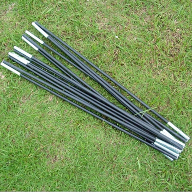 Reliable Black Fiberglass Tent Pole Kit 7 Sections C&ing Travel Replacement HP & RELIABLE Black Fiberglass Tent Pole Kit 7 Sections Camping Travel ...