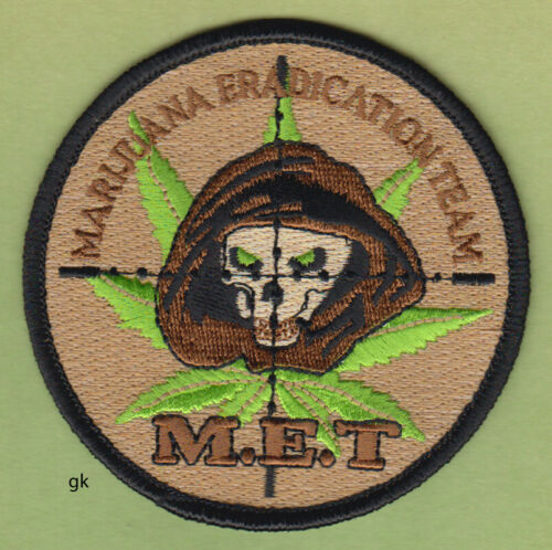 MARIJUANA ERADICATION TEAM M.E.T. POLICE DEA SHOULDER  PATCH