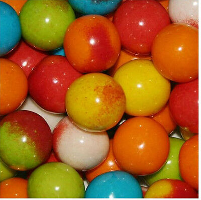 3lb Lightning Bolt Sour Dubble Bubble Gum W Candy Crystals Gumball Bulk Vending