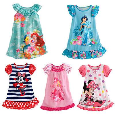 a29902e25ff16d ... Mädchen Kleid Tunika Nachtwäsche Nachthemd Sommer Kleider Minnie 104,  Kinder Baby Mädchen Ärmellos Sommer Meerjungfrau Prinzessin Tutu Party  Minikleid ...