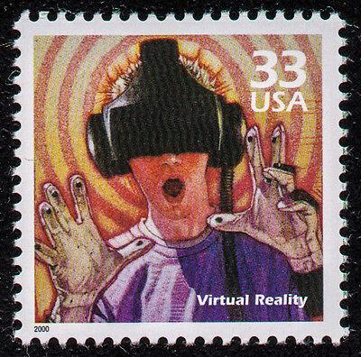 UNITED STATES, SCOTT # 3191-J, VIRTUAL REALITY,HEAD-MOUNTED DISPLAYS,VIDEO GAMES