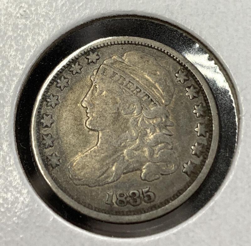 1835 Bust Dime Original VF JR 1 Pleasing Example Mr. C