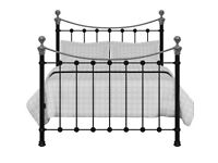 Feather and Black Selkirk Double Bed