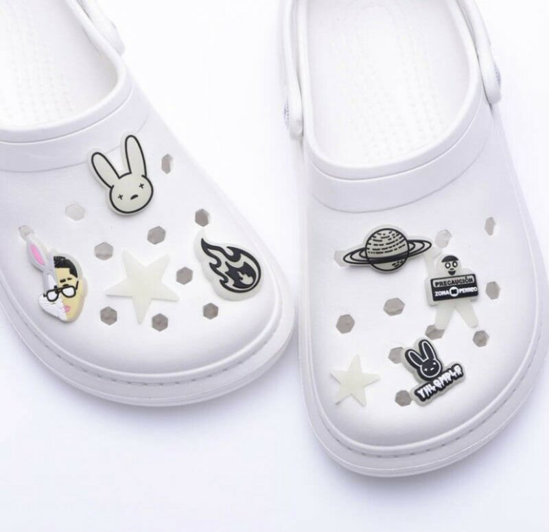 In Stock: Bad Bunny Croc Charms Complete Set 8 - Glow in the Dark - Jibbitzs