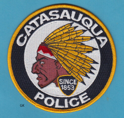 CATASAUQUA PENNSYLVANIA  POLICE SHOULDER  PATCH  (Indian chief)