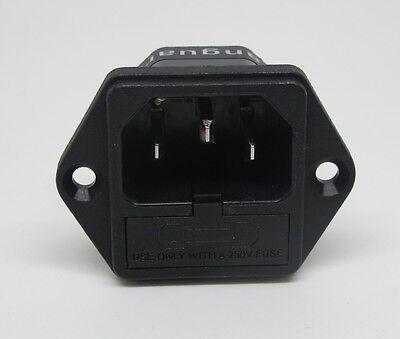 Vanguard Audio Rhodium Plated IEC AC Inlet, fuseholder FI-03