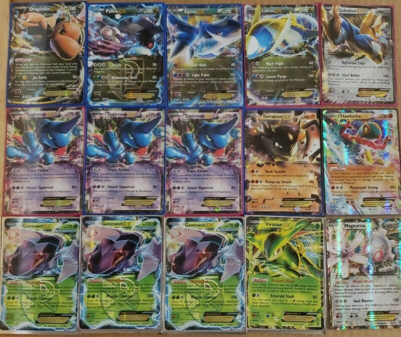 Common Used Pokemon 100 Card Lot and Holos guaranteed Rares Uncommon