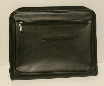 Boeing Professional Business Leather Resume Organizer Padfolio Portfolio Folder