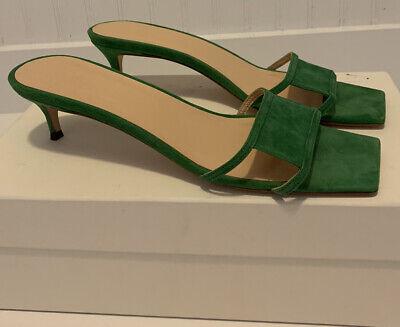 By Far Green Slide Sandals Size US 10/EU41 NIB Orig. $385.00