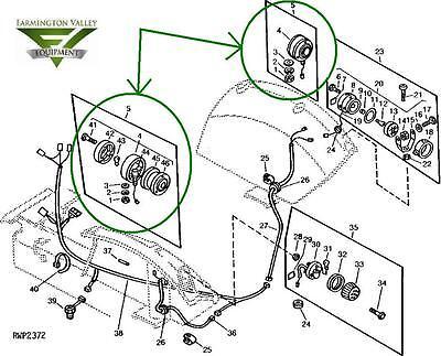 John Deere 670 770 790 850 Tractor Warning Lamp Signal Light Assembly LVA800967 Garden