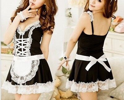 NEW Women's French Maid Sexy Lingerie Costume Adult Costume HOT!!!