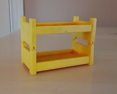 Vintage Fisher Price Little People yellow bunk beds for A-Frame house 990