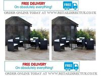 NEW rattan cube set with cushions garden patio furniture