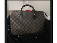 Louis Vuitton speedy 30 handbag Damier Ebene canvas