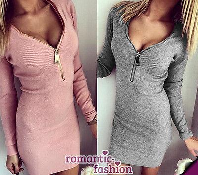 ♥Größe 34-40 Longshirt, kleid, Tunika in Rosa oder Grau+NEU+SOFORT♥ ()