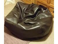 Very large faux leather bean bag