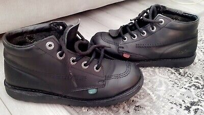 Kickers Boots Uk Size 6 Leather Upper Lace Up Round Toe