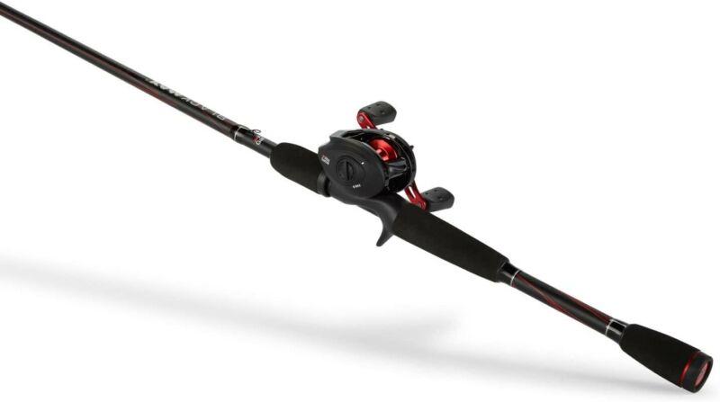 Abu Garcia BMAX3661M Max Low Profile Baitcast Reel and Fishing Rod Combo