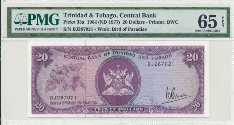 Central Bank Trinidad & Tobago  $20 1964  PMG  65EPQ
