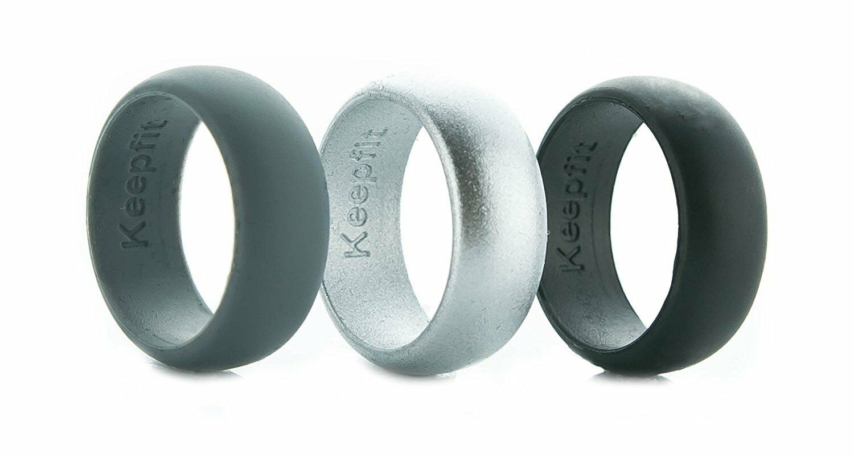 Silicone Wedding Ring for Men Wedding Band for Him - Metalli