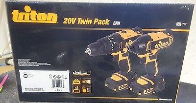 Triton T20TP02 Doppelpack mit Combo Schlagbohrmaschine und Auswirkungen Treiber