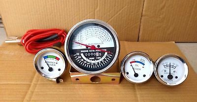 Oliver Tractor Super 55 66 67 Gauge Kit Tachometer Temp Ampere Oil-white