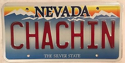 Vanity CHACHIN license plate Jackpot Lottery Luck Casino Slot Machine Las Vegas