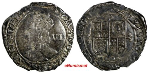 ENGLAND Charles I (1625-1649) Silver (1640-41) 6 Pence Tower Mint, KM#97;S-2817